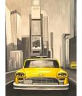 Холст на картоне с контуром  Этюд 30х40 Города Нью-Йорк  хлопок/акрил 284203