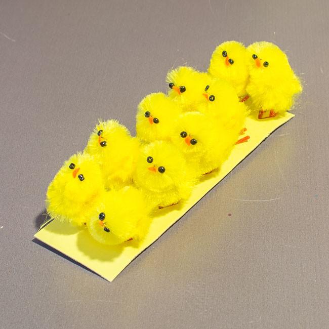 Пасхальный декор цыплята 3 см за 10 шт