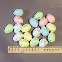 Пасхальный декор набор в пакете яйца с поталью 4 см