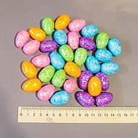 Великодній декор набір в пакеті яйця в глиттере 3,5 см