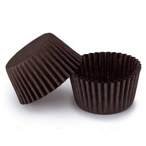 Бумажные формы для кексов 45х35 мм, коричневые, фото 2