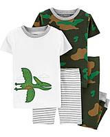 Класні трикотажні піжамки з принтом Картерс для хлопчика (поштучно)