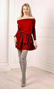 Женское платье АНГОРА АРКТИКА. Размеры С М Л.  ЦВЕТ: черный, красный, электрик, хаки, бордо.