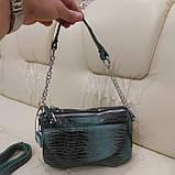 Женская сумочка из стильной лазерной натуральной кожи, фото 2