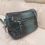 Женская сумочка из стильной лазерной натуральной кожи, фото 3