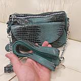 Женская сумочка из стильной лазерной натуральной кожи, фото 6