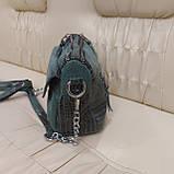 Женская сумочка из стильной лазерной натуральной кожи, фото 8