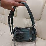 Женская сумочка из стильной лазерной натуральной кожи, фото 9