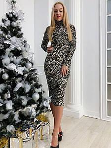 Женское платье-гольф. Основа трикотаж. Размеры С М Л.