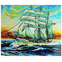 """Картина по номерам """" Парусник отправляется в плавание"""" живопись,картины по цифрам,раскраска, размер 40х50 см"""