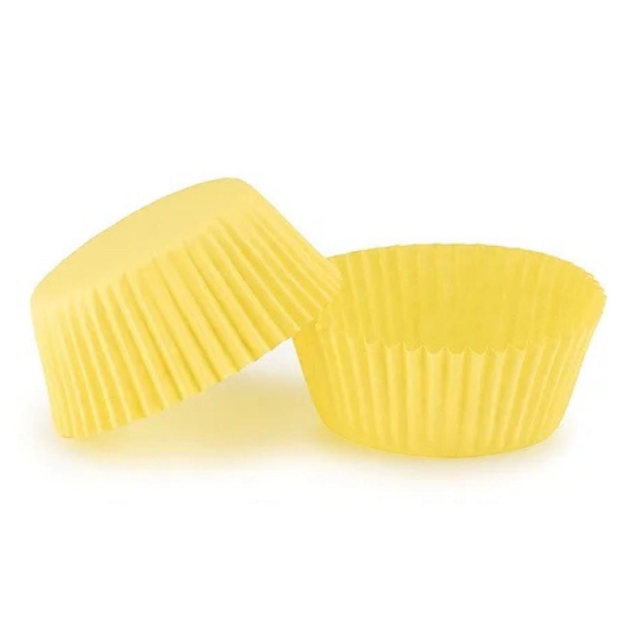 Бумажные формы для кексов 50х30 мм, желтые