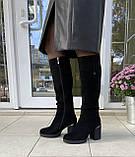 Женские зимние сапоги Respect оригинал натуральная замша шерсть 36, фото 8