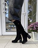Женские зимние сапоги Respect оригинал натуральная замша шерсть 37, фото 7