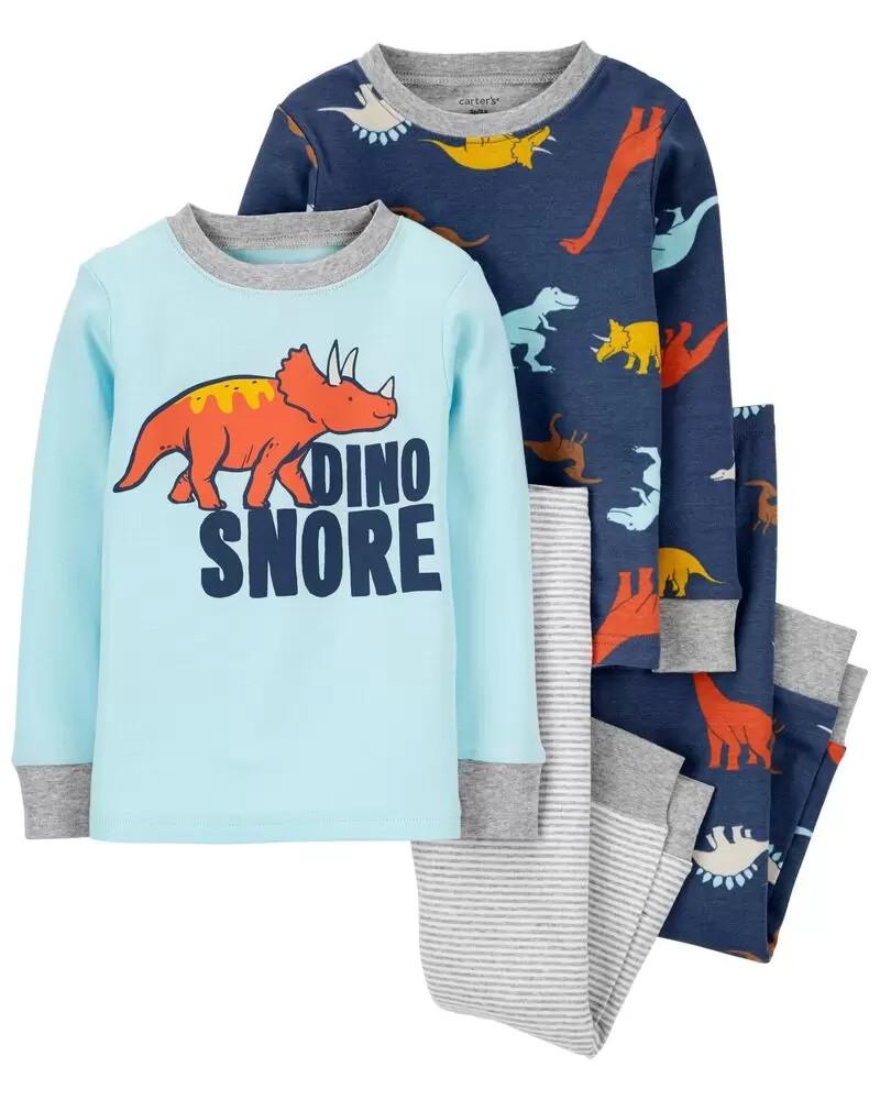 Трикотажні піжами з веселими динозаврами Картерс для хлопчика (поштучно)