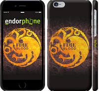 """Чехол на iPhone 6 Game Of Thrones. House Fire And Blood """"3055c-45"""""""