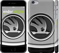 "Чехол на iPhone 6 Plus Skoda. Logo v2 ""3172c-48"""