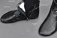 ХУФФ ( Кожаные носки) без меха, фото 1