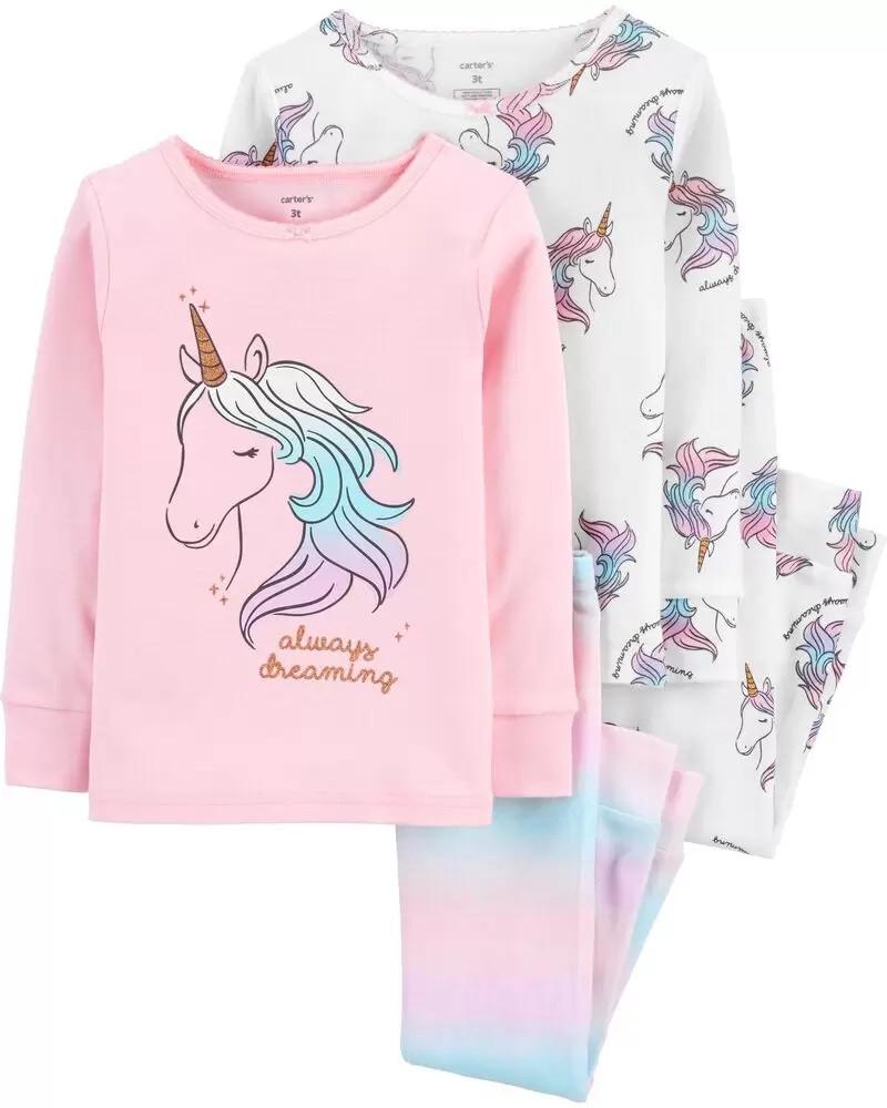Чарівні піжами з милими єдинорогами Картерс для дівчинки (поштучно)