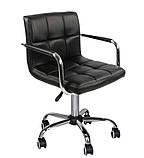 Крісло на колесах Стар Нью чорне екокожа для майстра манікюру СДМ група (безкоштовна доставка), фото 2