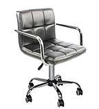 Крісло на колесах Стар Нью чорне екокожа для майстра манікюру СДМ група (безкоштовна доставка), фото 6
