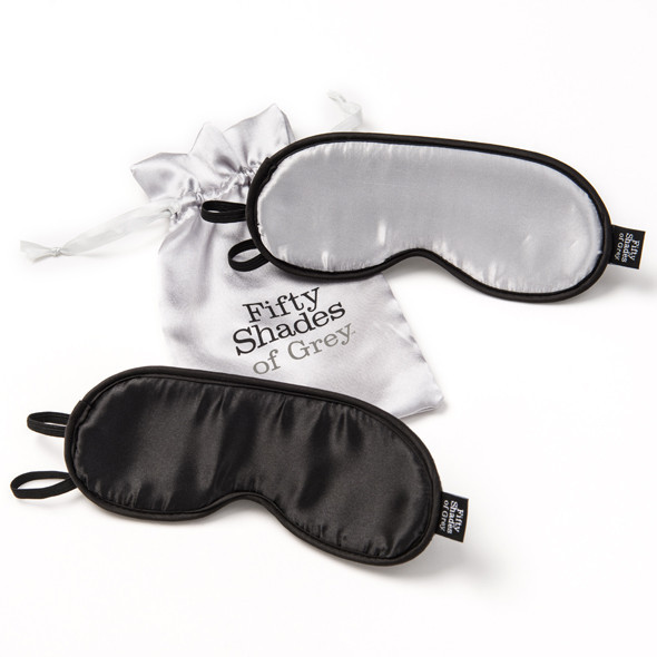 Комплект масок для глаз Fifty Shades of Grey Soft Twin Blindfold Set, фото 1