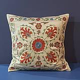 Наволочка сюзане шелк ручная вышивка. Узбекистан (3), фото 2