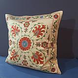 Наволочка сюзане шелк ручная вышивка. Узбекистан (3), фото 4