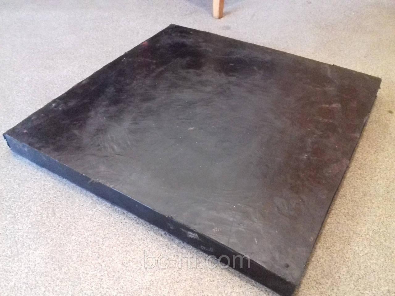 Скребок резиново-армированный для отвалов 40ммх500ммх500мм