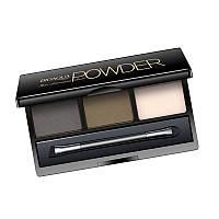 Тени для бровей BIOAQUA Powder № 2 черный + темно - коричневый + глянцевый 6г