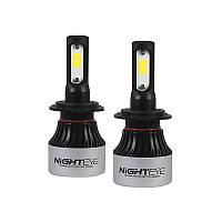 Автомобильные светодиодные лампы для фар NightEye DC9 A315-S2-H7 мощность 72 Вт/пара COB IP68 9000 лм