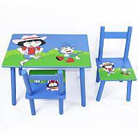 Стол и стулья детские дора