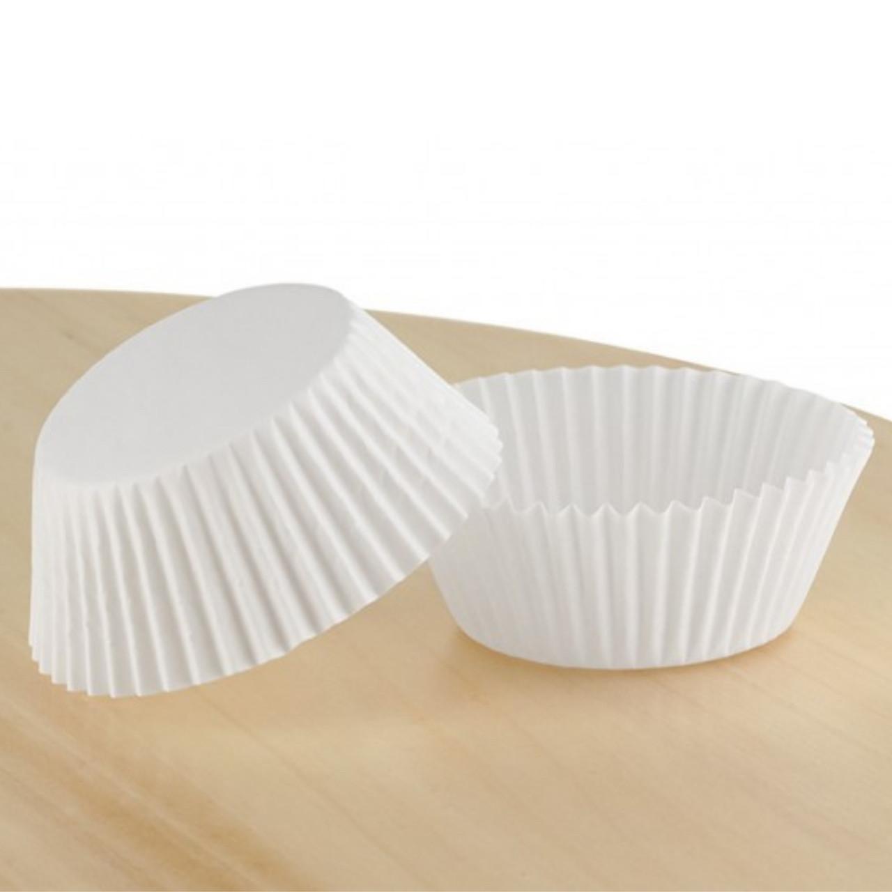 Паперові форми для капкейків 45х35 мм, білі