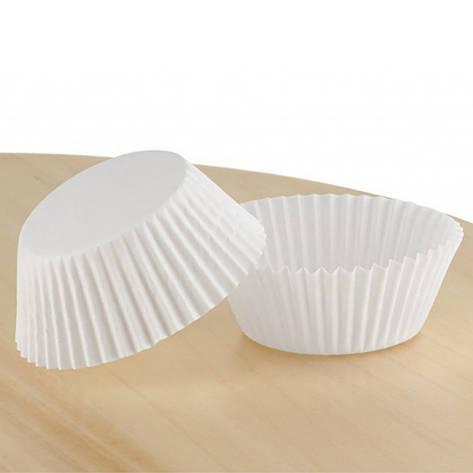 Паперові форми для капкейків 45х35 мм, білі, фото 2