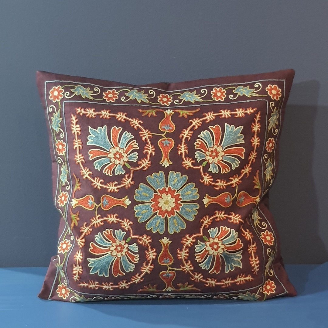 Наволочка сюзане шелк ручная вышивка. Узбекистан (6)