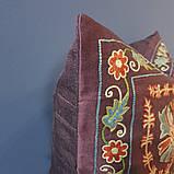 Наволочка сюзане шелк ручная вышивка. Узбекистан (6), фото 2
