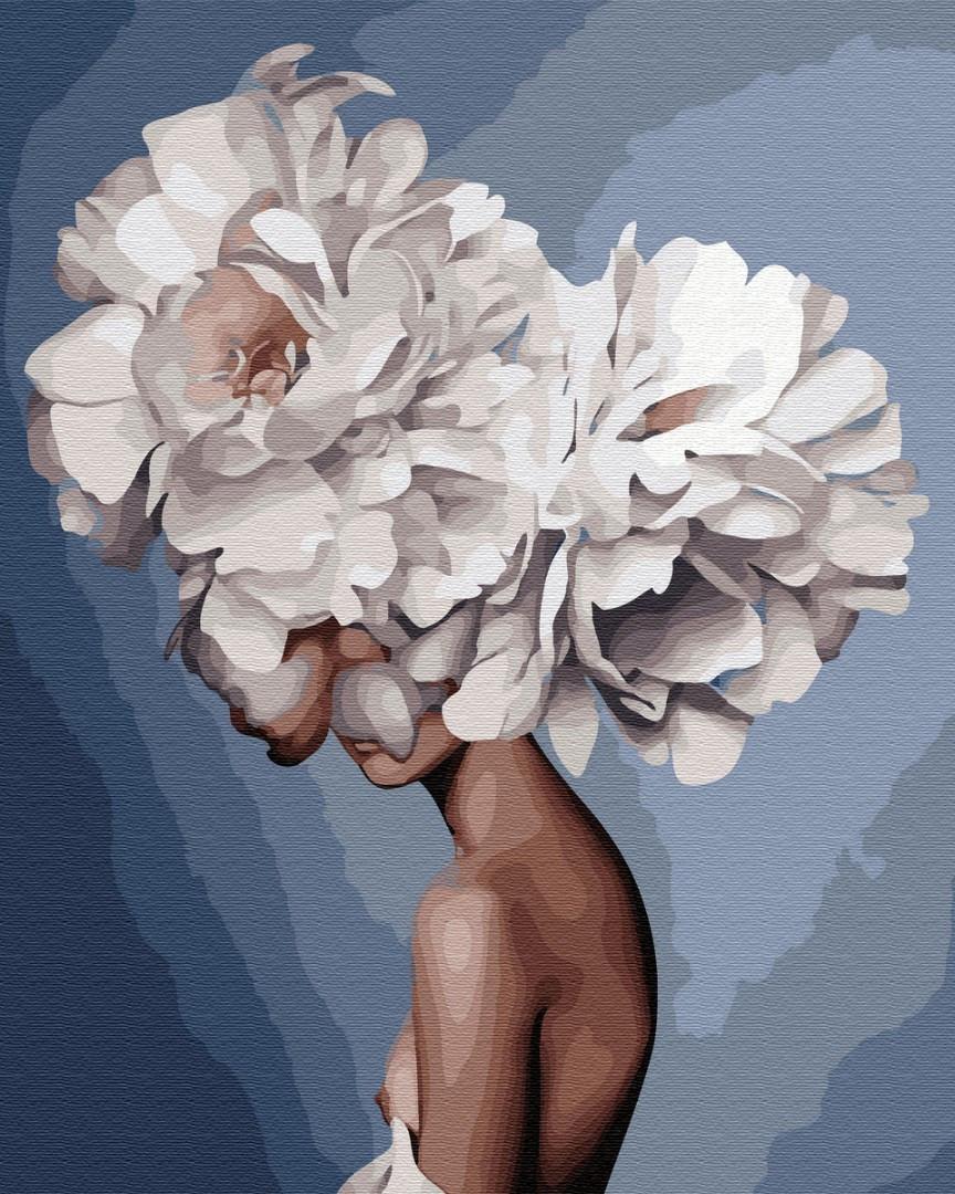 Картина по номерам. Утонченная девушка в стиле Эми Джадд, 40*50 см, Brushme, Премиум, цветной холст, лак  в