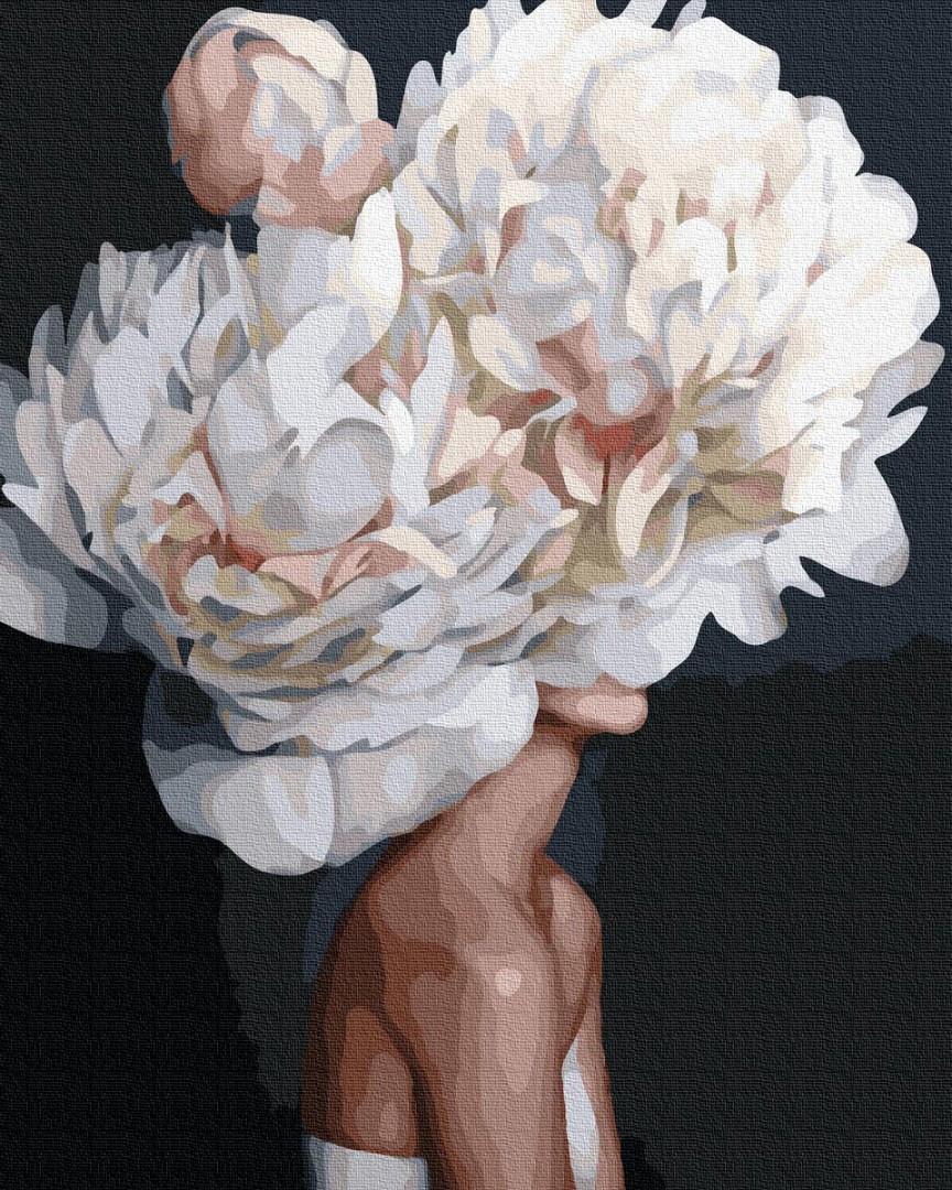 Картина по номерам. Цветение пионов в стиле Эми Джадд, 40*50 см, Brushme, Премиум, цветной холст, лак  в