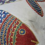 Наволочка сюзане шелк ручная вышивка. Узбекистан (8), фото 4
