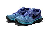 Женские кроссовки Nike Flyknit Lunar 3 blue