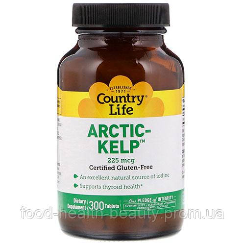 Arctic Kelp (Норвежская ламинария) 225 мкг 300 таблеток ТМ Кантри Лайф / Country Life