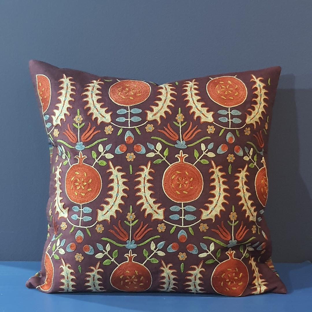 Наволочка сюзане шелк ручная вышивка. Узбекистан (11)
