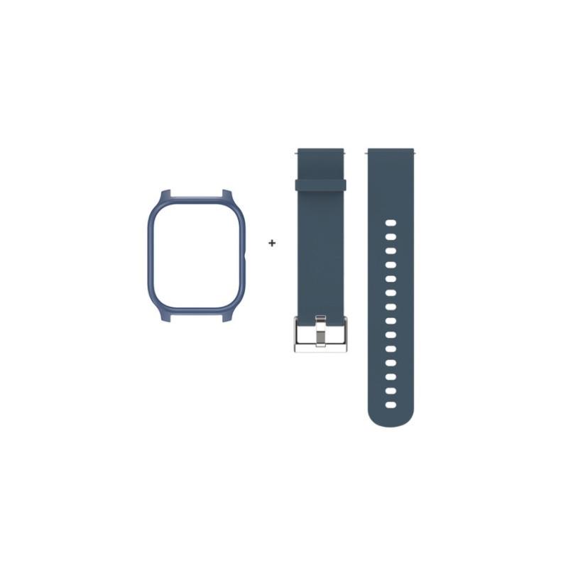 Amazfit GTS Комплект для смарт часов (ремешок и бампер), Gray-blue
