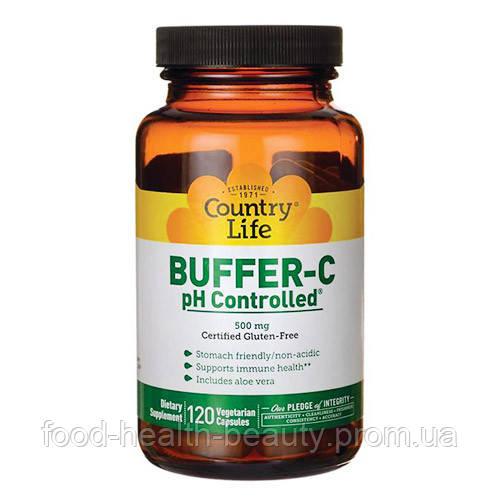 Буфер вітамін с З контролем рН 120 капсул ТМ Кантрі Лайф / Country Life