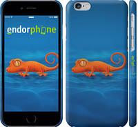 "Чехол на iPhone 6s Оранжевый геккон ""1064c-90"""