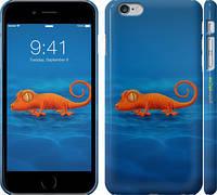 "Чехол на iPhone 6s Plus Оранжевый геккон ""1064c-91"""