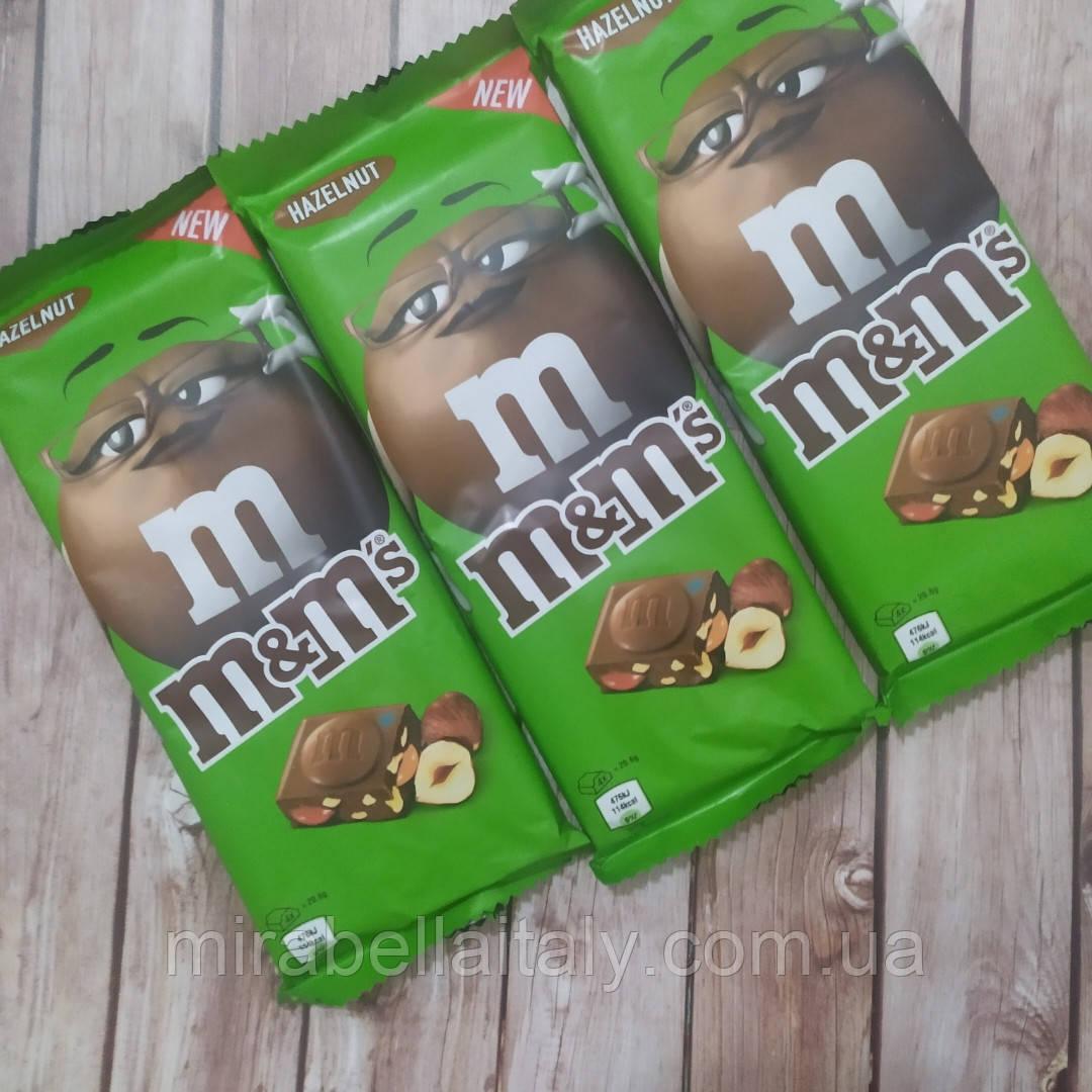 Шоколадки M&M с фундуком и драже.165 грамм