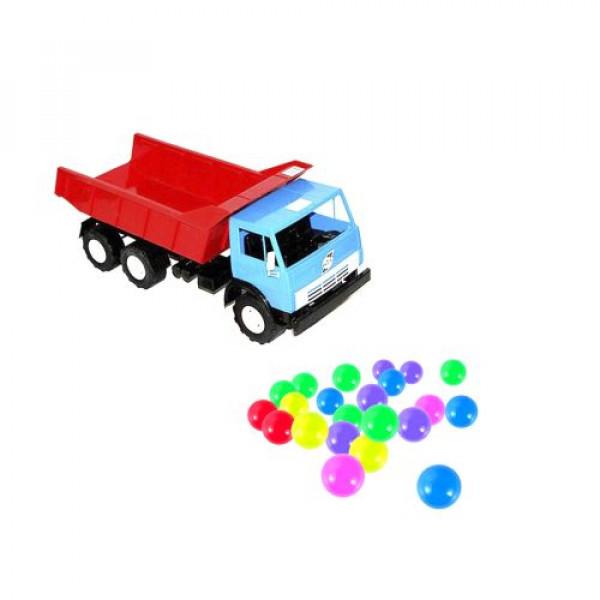 Машинка Самосвал с шариками синий