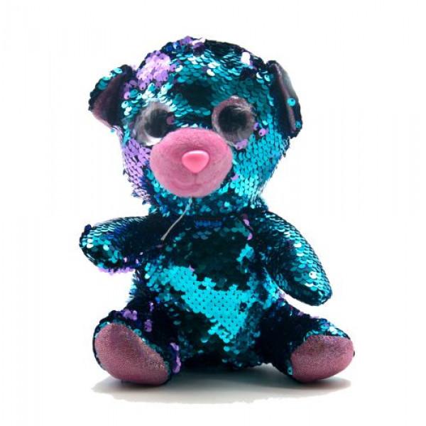 Мягкая игрушка с пайетками Мишка