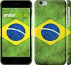 """Чехол на iPhone 6s Флаг Бразилии """"394c-90"""""""