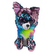 Мягкая игрушка Глазастик с пайетками: собачка